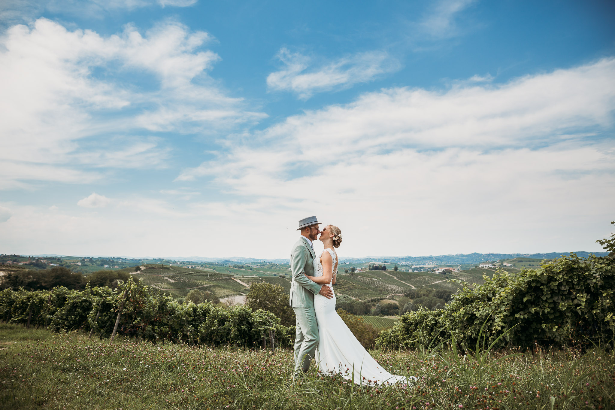 Couple getting married in Piedmont, Italy