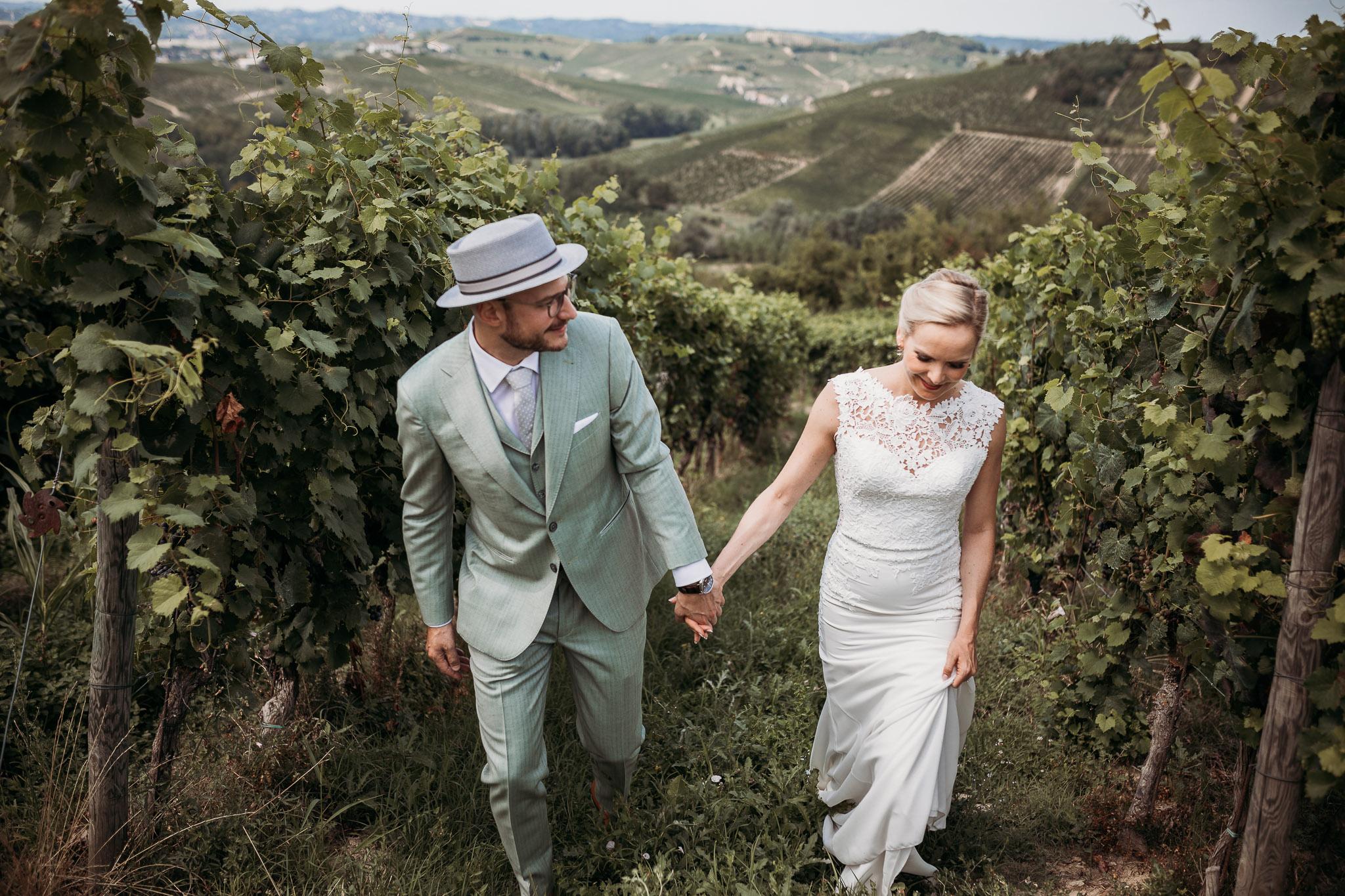 Photo shoot in the vineyards of Piedmont