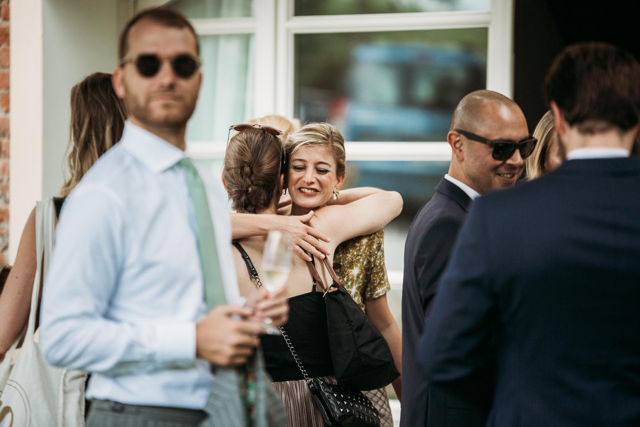 Wedding guests arriving at La Villa Hotel, Mombaruzzo