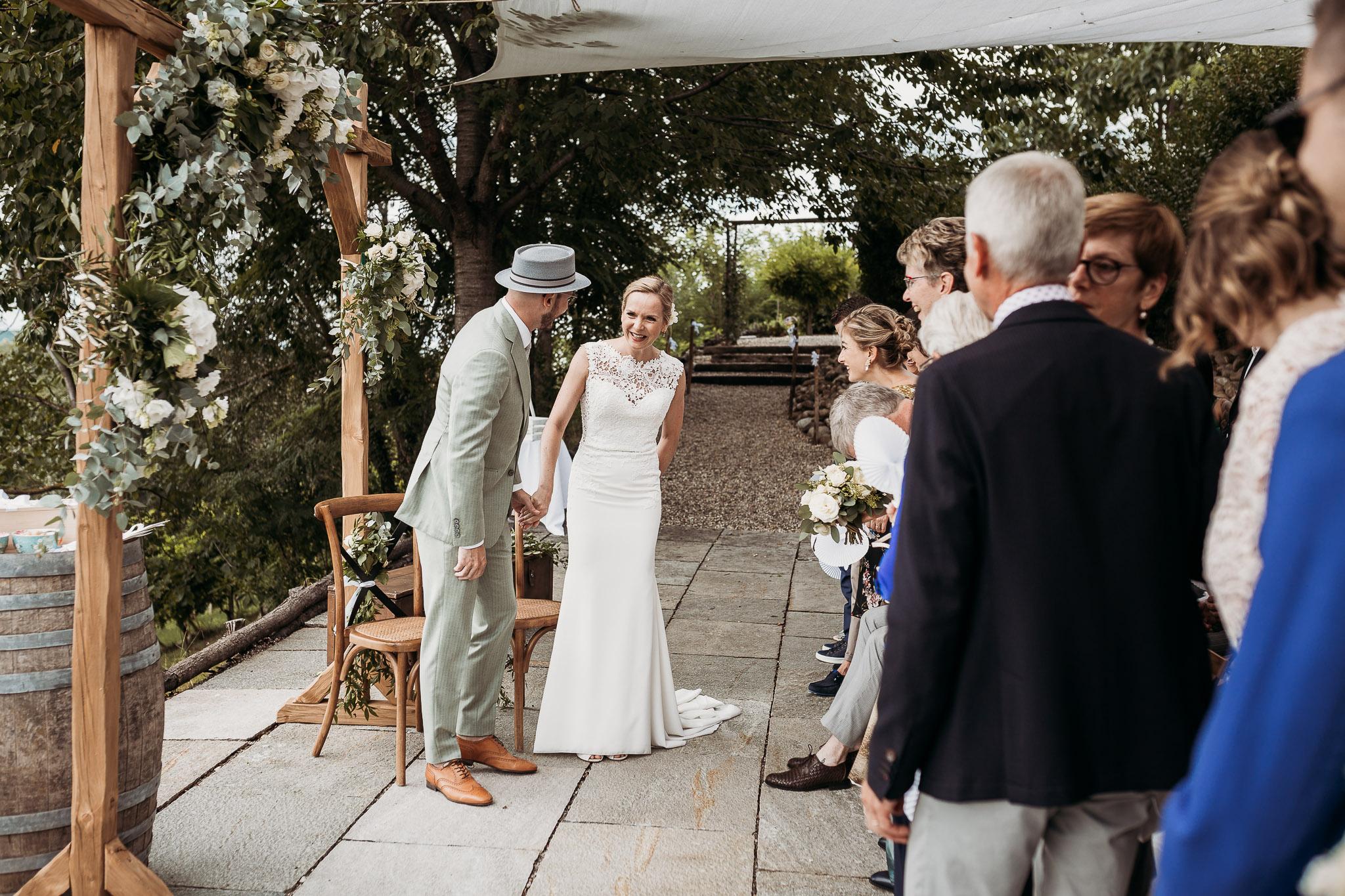 Wedding ceremony at La Villa Hotel, Mombaruzzo