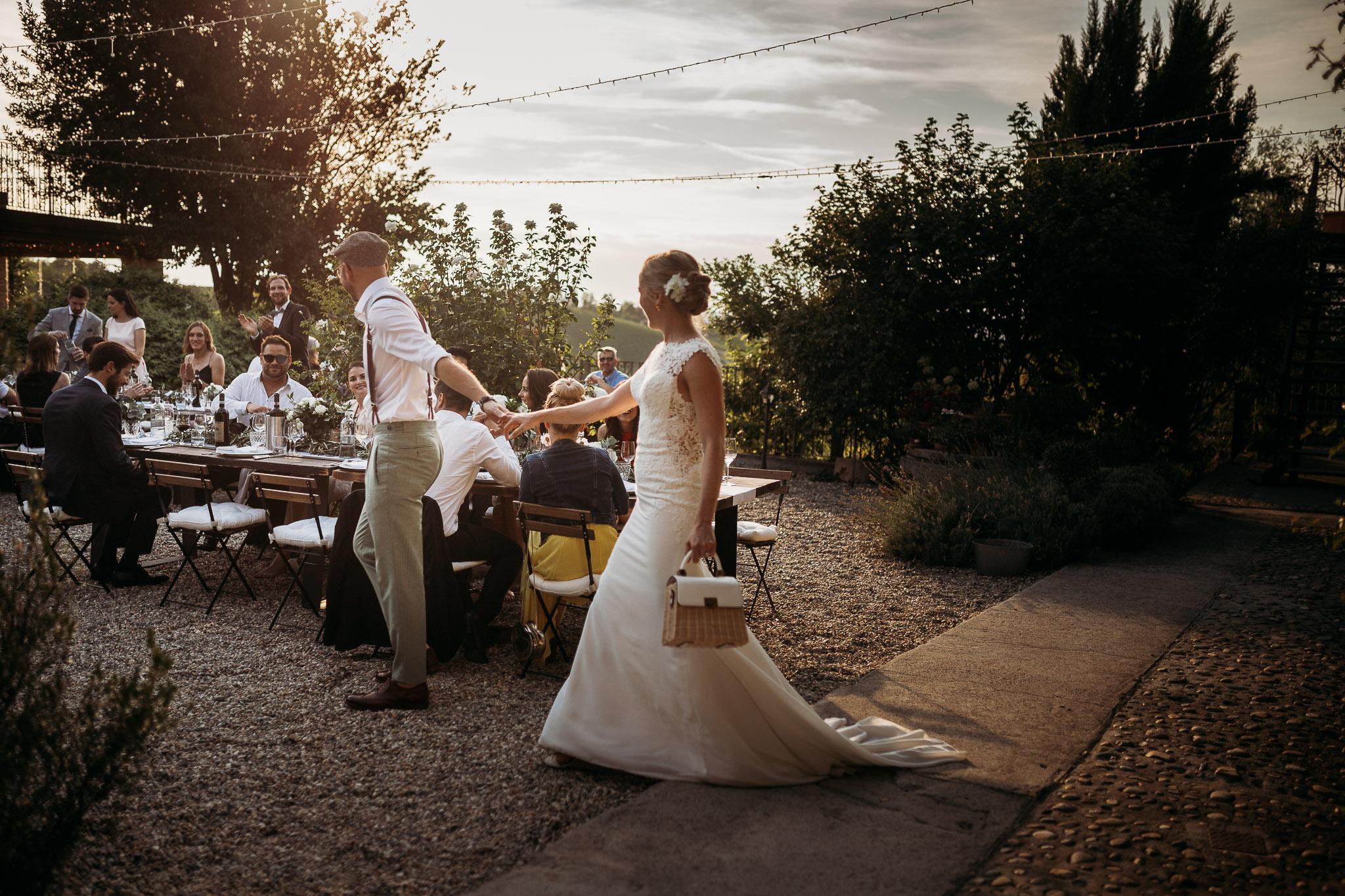 Wedding party at La Villa Hotel, Mombaruzzo