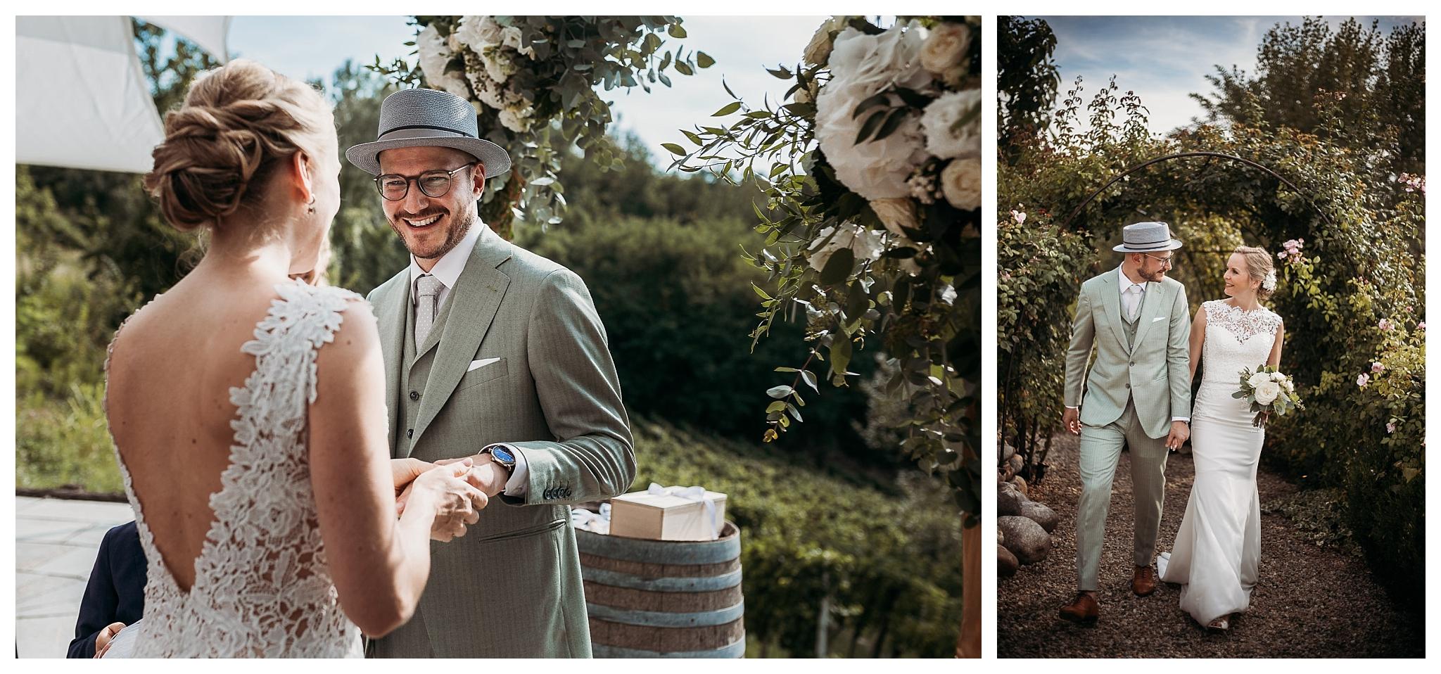 Italian wedding ceremony at La Villa Hotel, Mombaruzzo