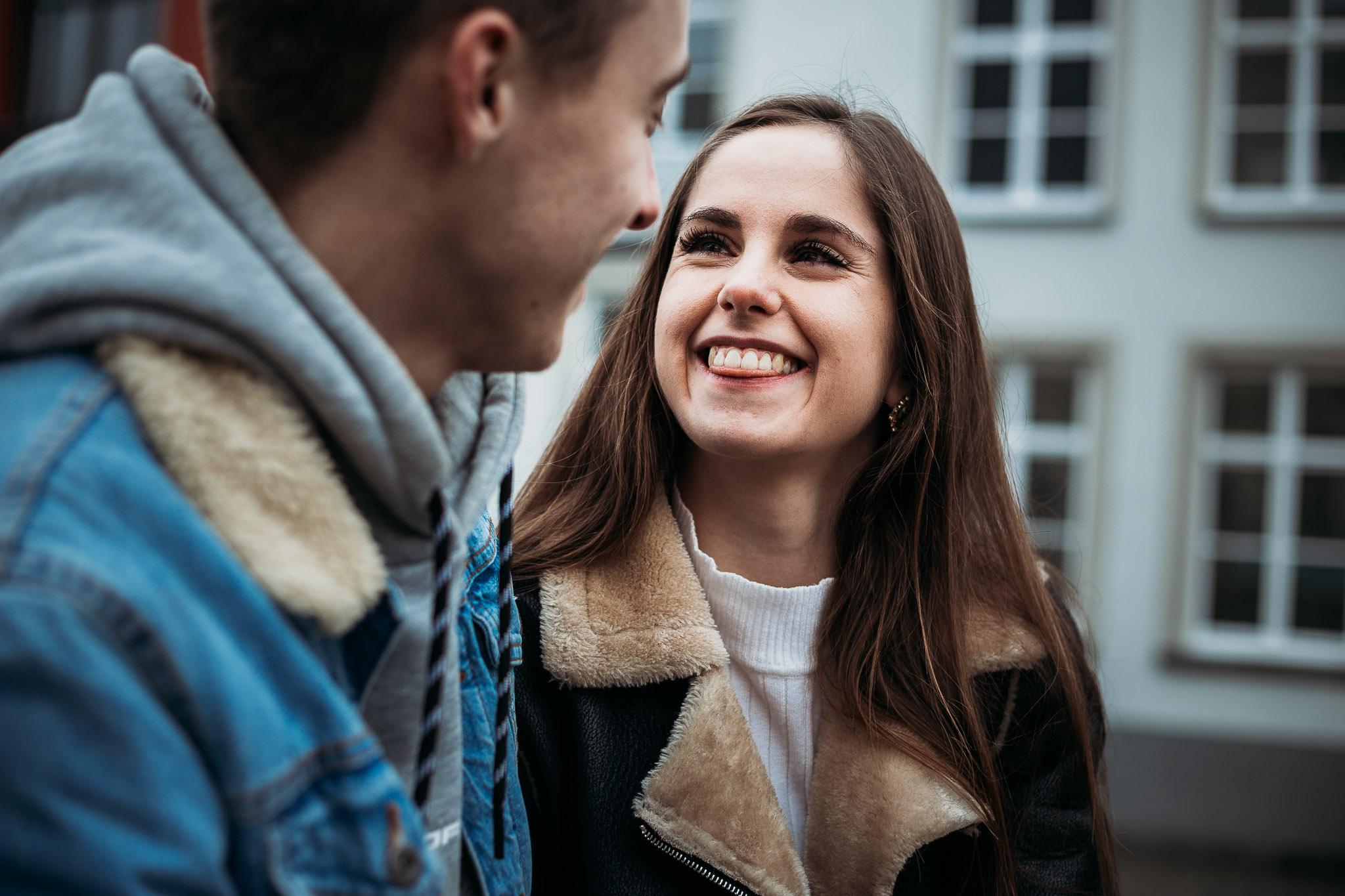 Funny smile in Bruges, Belgium