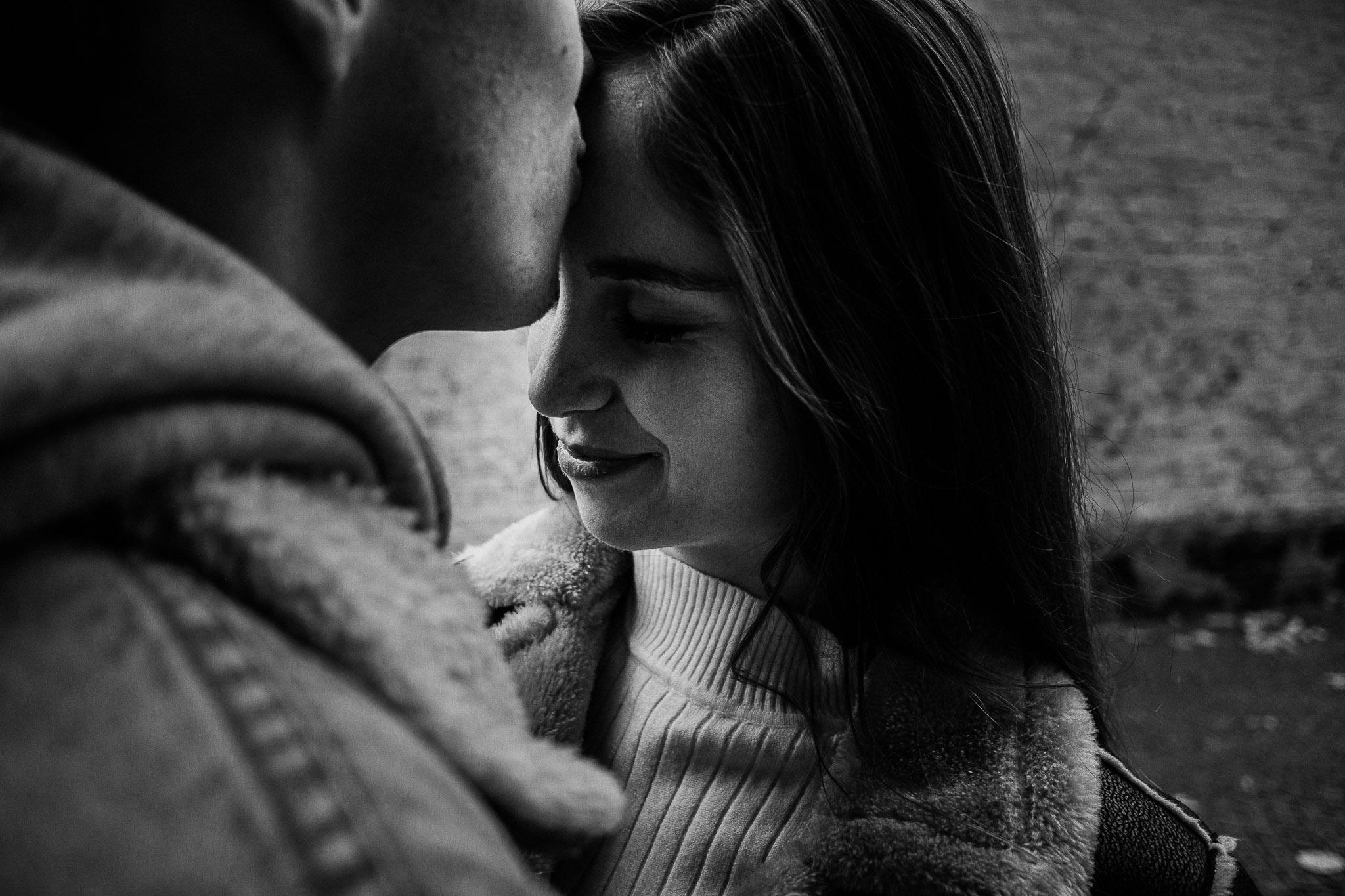 Beautiful girl smiling in Bruges, Belgium