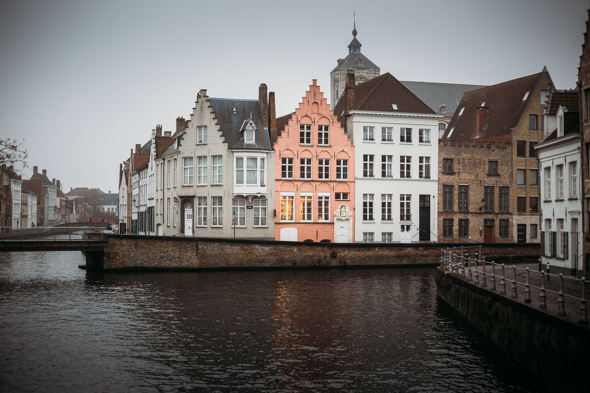 View on the canals in Bruges, Belgium