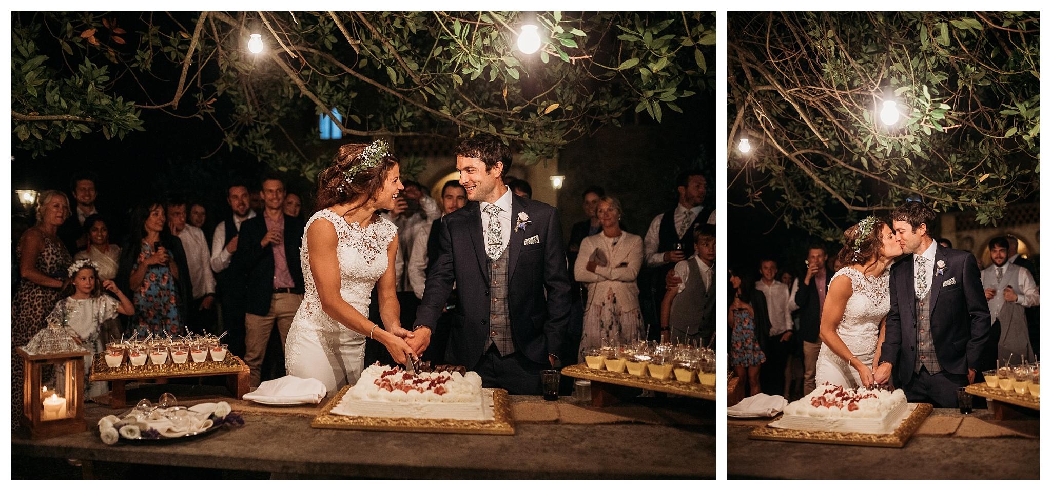 Cake cutting at Tenuta di Casa Bruciata, Italy