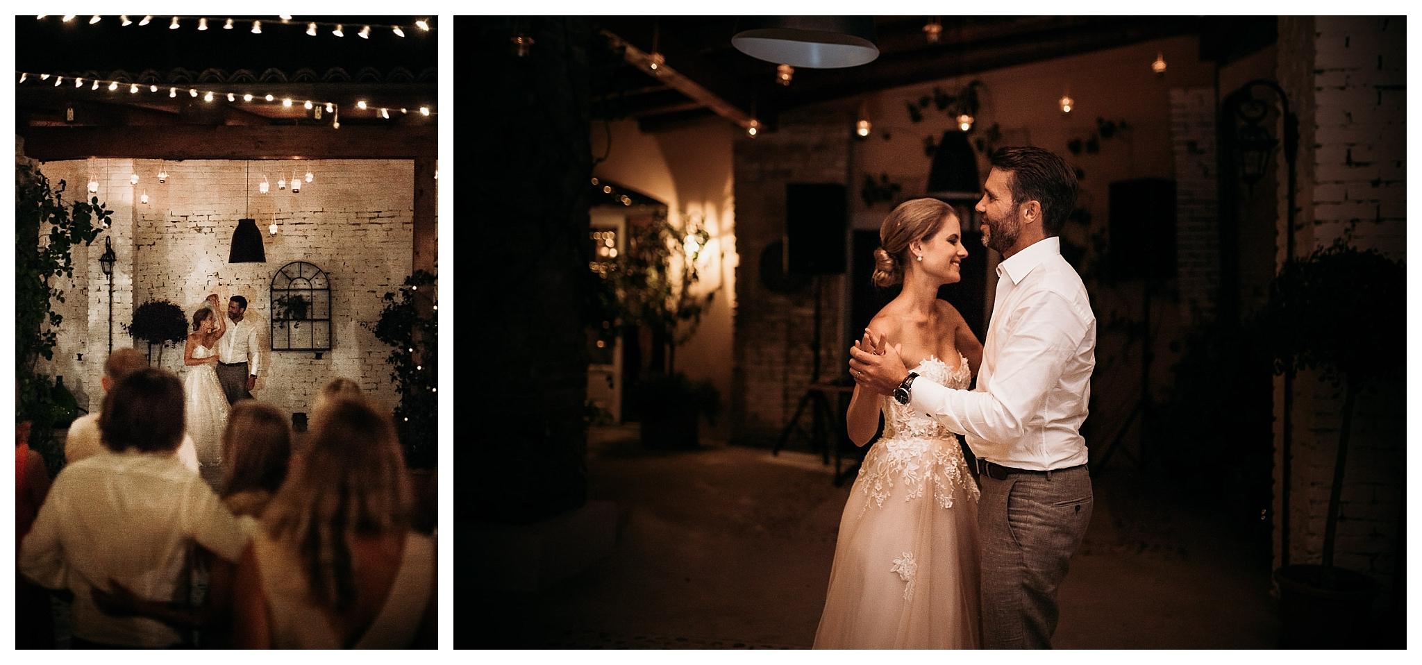 First dance at La Villa Hotel weddings