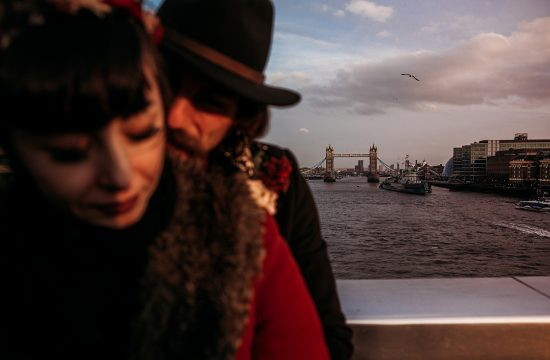 Elopement session on the London Bridge