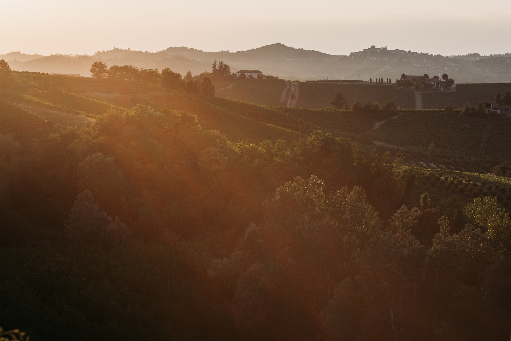 Landscape from Cascina Faletta terrace, Italy