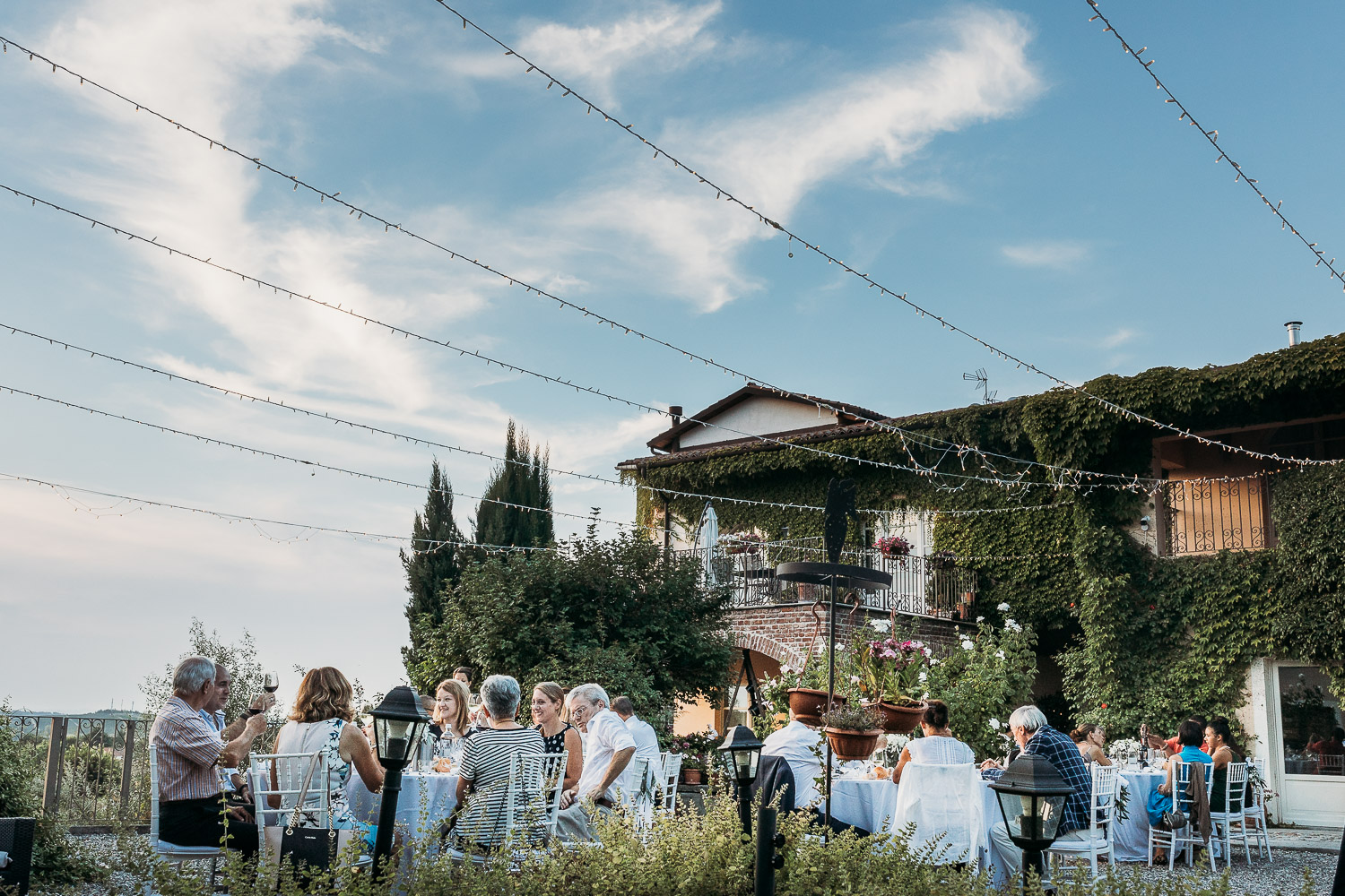Italian wedding style in an ancient villa in the countryside of Piedmont